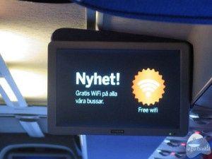 El autobus Flygbussarna tiene wifi gratis