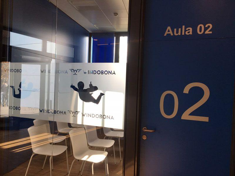 Windobona Madrid - Primer túnel de viento de Madrid capital - Una de las aulas de formación
