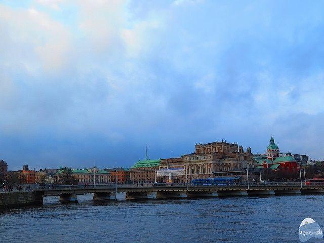 Vista de Estocolmo desde el barco