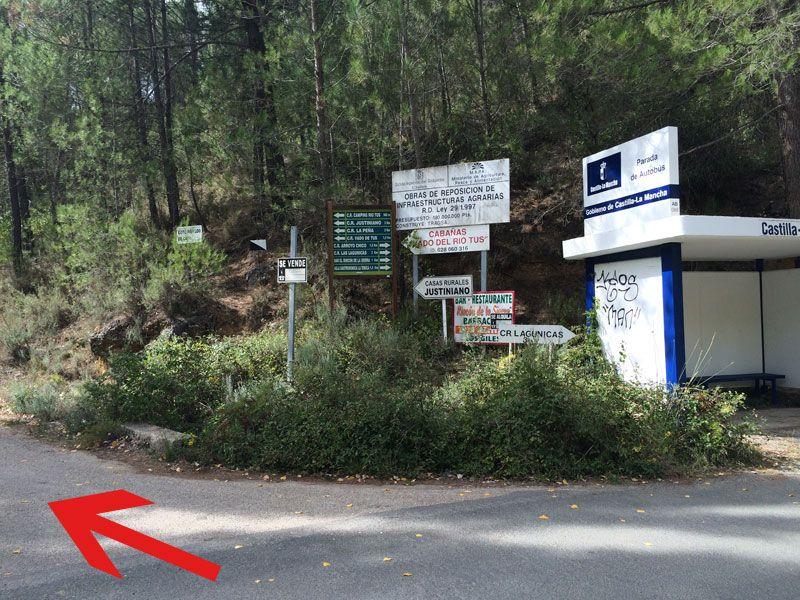 Yeste turismo rural - Cruce para llegar a Collado Tornero