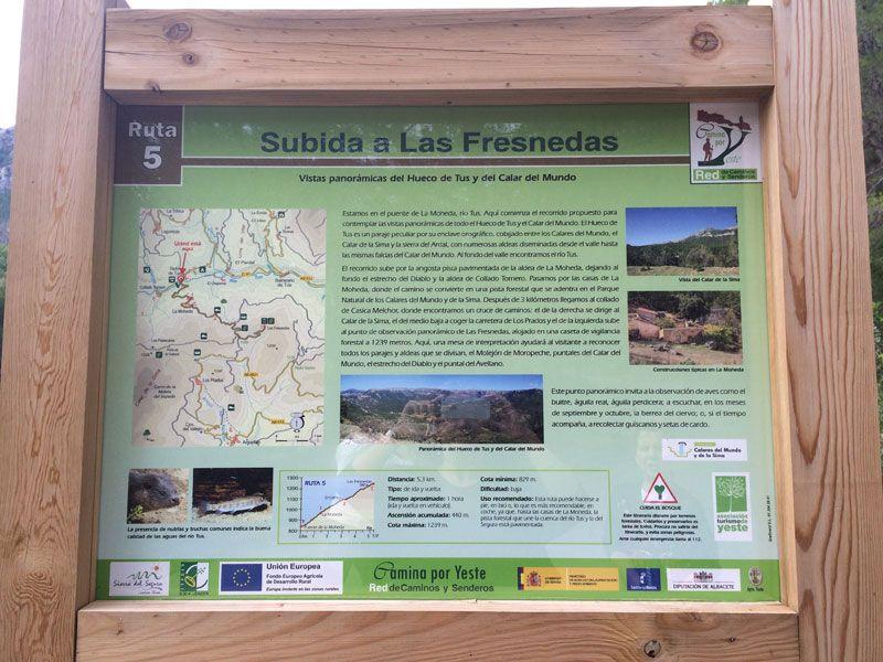 Yeste turismo rural - Información sobre la ruta de senderismo a Las Fresnedas